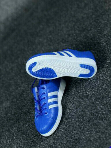 In-stock 1/6 X-TOYS X-10 Blue Sneakers Accessories Footwear