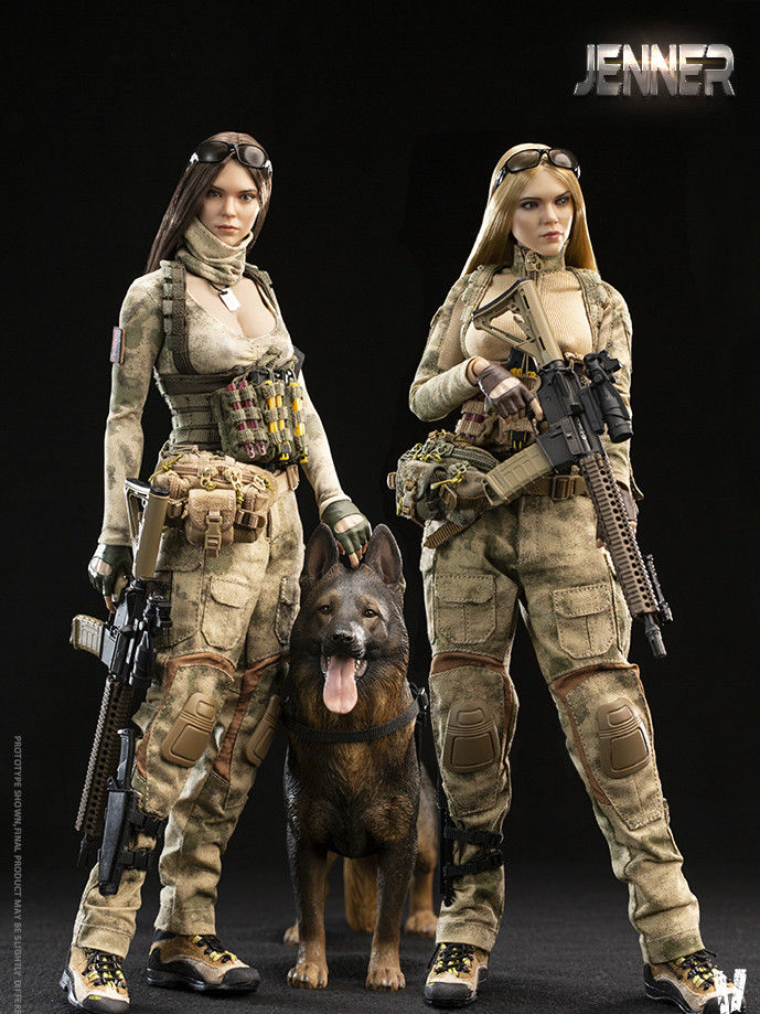 A-TACS FG Female Soldier Jenner 1//6 Brunette Action Figure VeryCool VCF2037A USA