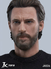 In-stock 1/6 Scale JXTOYS-026 Captain Head Sculpt HW/Neck
