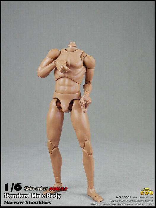 In-stock 1/6 Scale COOMODEL Standard Slim Shoulder Figure Body 2.0 BW/O Neck BD001 BD002