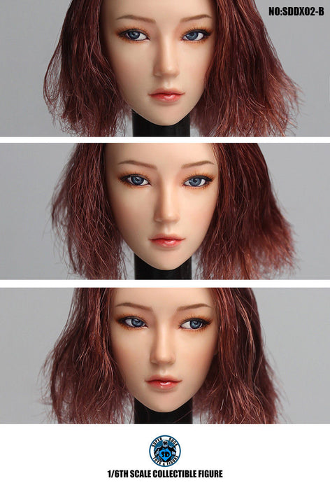 In-stock 1/6 Scale SUPER DUCK SDDX02 Movable Eye Female Head Sculpt A~C
