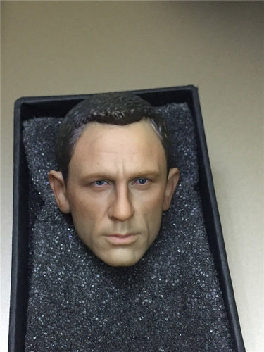 1/6 scale 007 Agent James Bond Head Sculpt Daniel Craig