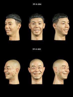 Pre-order 1/6 Facepool No.6 Series Asian Head Sculpt H-004 H-005 HW/Neck