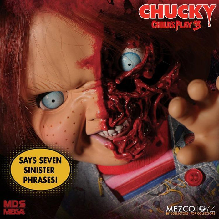 In-Stock Mezco Toys 78020 15 inch CHUCKY Child's Play