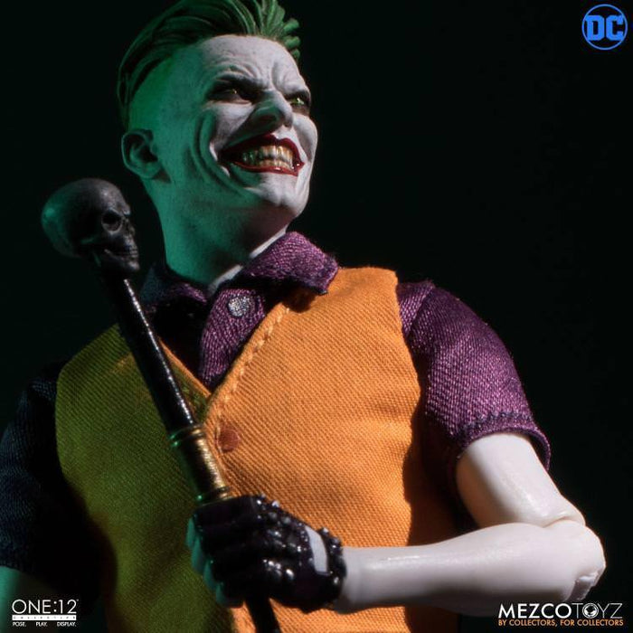 Pre-order Mezco Toys 76231 1/12 Scale 6 inch Joker The Clown Prince of Crime