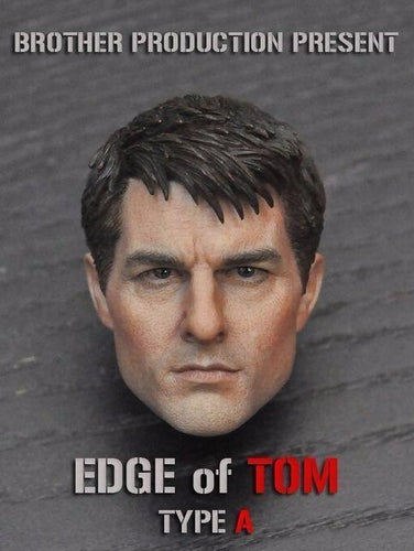 1/6 Tom Cruise Head Sculpt For Phicen Hot Toys Male Figure Body