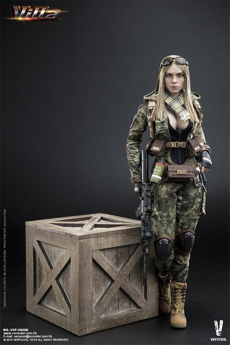 In-Stock VERYCOOL 1/6 Scale Python Stripe Camouflage - Villa Sister VCF2035A/B