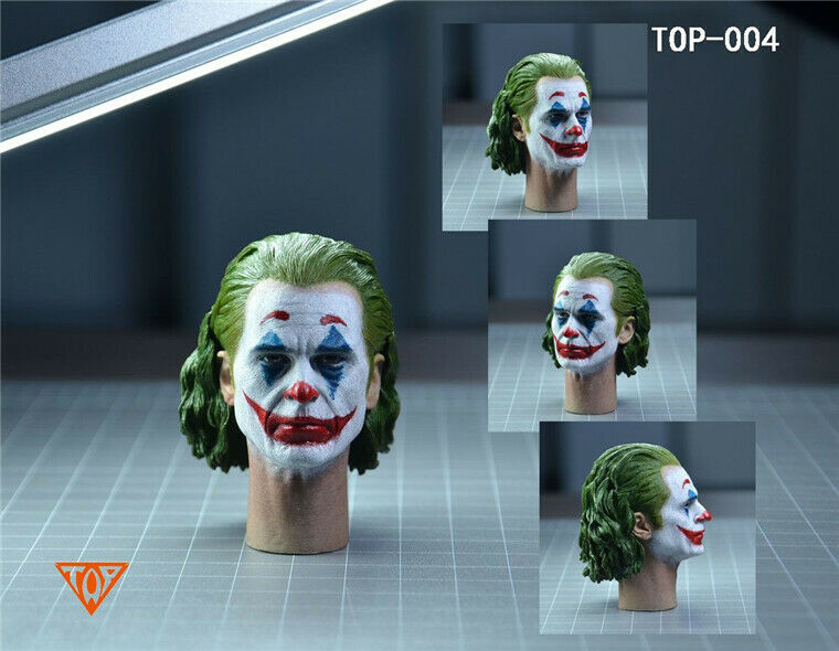 In-stock 1/6 TOP-004 Joker Head Sculpt HW/Neck (W/ Mask)