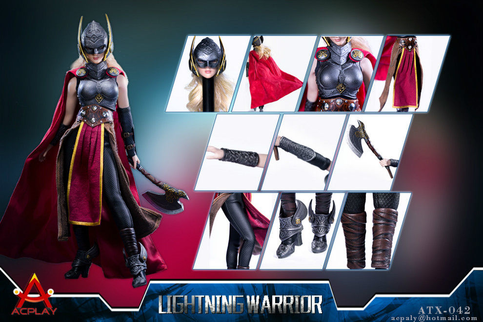 Back-order ACPLAY Toys 1/6 Scale  ATX042 Lightning Warrior Suit with head
