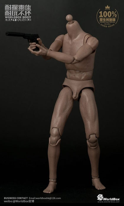 In-Stock 1/6 Scale WorldBox AT011 Male 12in Body with hands BW/Neck