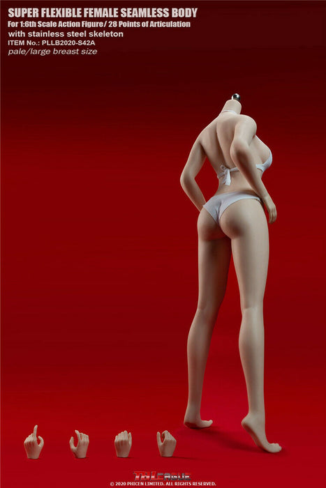 In-stock 1/6 TBLeague European Female Seamless Body Undetachable Feet S42A S43A