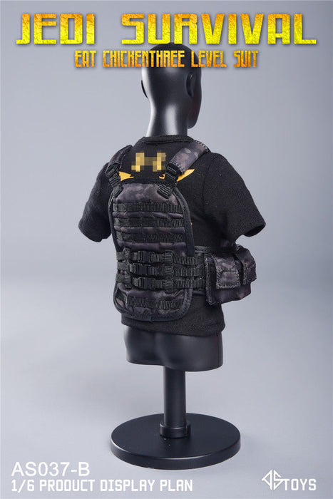 Pre-order 1/6 Scale ASTOYS AS037 PUBG Eat Chicken Three Level Suit