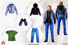 In-Stock 1/6 Scale ACPLAY 1/6 ATX037 Male Casual Denim Jeans Hoodie Clothe Set