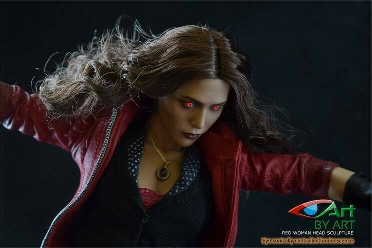 Pre-order 1/6 BY-ART BY-T5 Scarlet Witch Head Sculpt Voice Control LED  H#Suntan JP#4