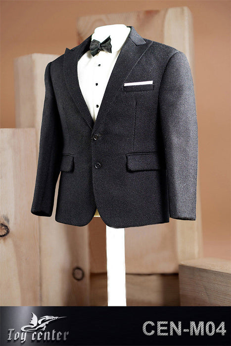 Toy center 1//6 CEN-M11A Male British Suit Costume Clothing Set Collectible Black