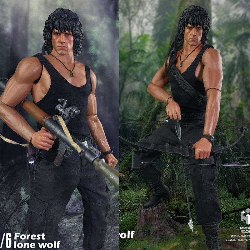 1 6 Haoyu Toys Action Figure For Rambo First Blood Jungle Wolf