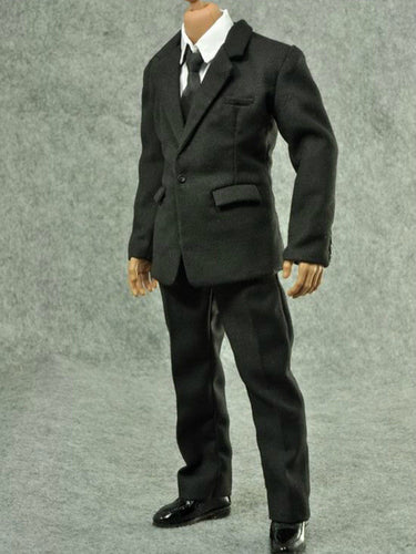 1/6 Scale ZC Black Male Suit Full Set (No shoes) For Onesixth Figure MusclarBody
