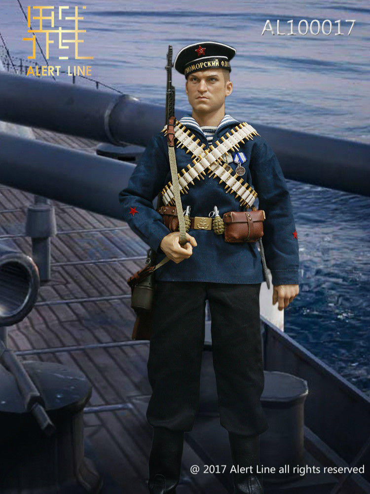 In-Stock 1/6 Scale Alert Line AL100017 WWII Soviet Red Navy Equipment Set