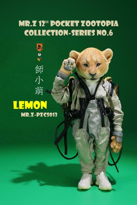 "Pre-order 1/6 Mr.Z 7"" Pocket Zootopia Series No.6 Damon & Lemon PZCS013/14"