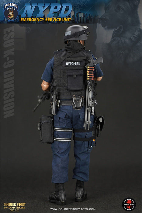 "In-Stock Soldier Story 1/6 NYPD ESU ""K-9 DIVISION"" 12in Action Figure SS101"