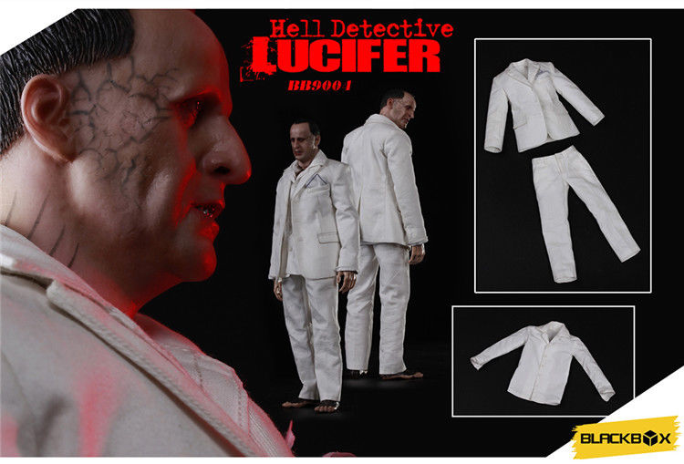 "In-Stock Blackbox 1/6 Scale Guess Me Series  - Hell Detective ""Lucifer"" 12in Action Figure"