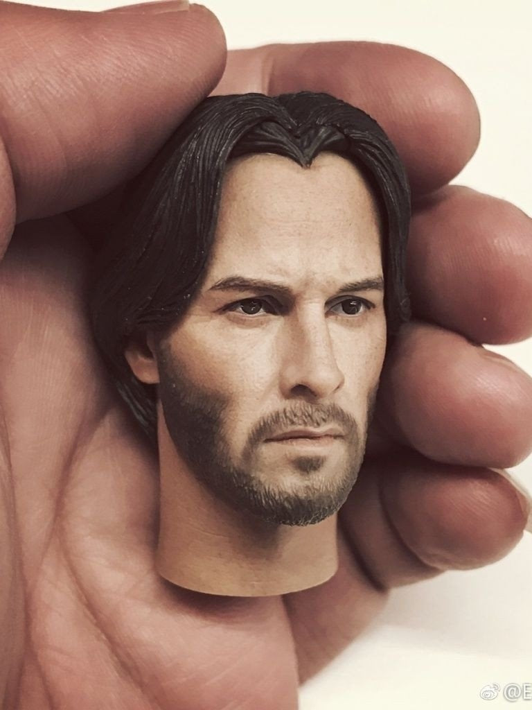 New Arrival In-stock Eleven 1/6 Scale Keanu Reeves John Wick Head Sculpt for 12'' action figure