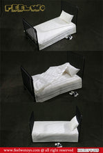 In-Stock 1/6 Scale FEELWOTOYS FW005 Metal Bed + WHITE Mattress For 12in Figure