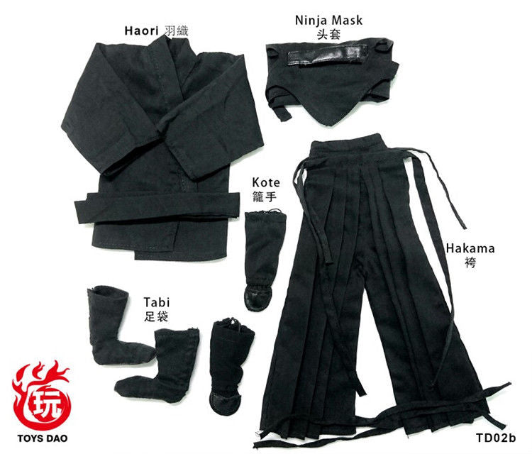 In-Stock 1/6 Scale Toys Dao Ninja Suit Clothes 12'' action figure