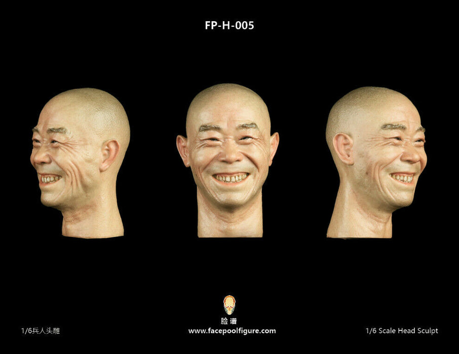 In-stock 1/6 Scale Facepool No.6 Series Asian Head Sculpt H-004 H-005 HW/Neck