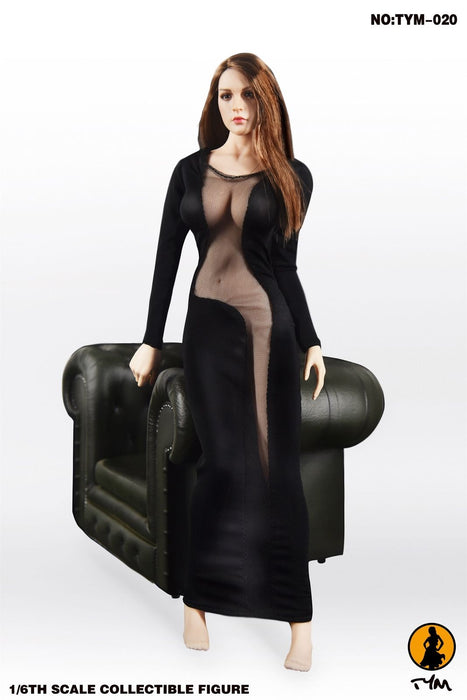 1/6 Scale Female Evening Dress TYM-20 For TBLeague Large Bust