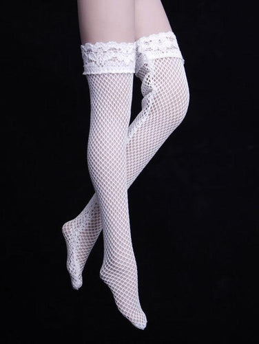 1/6 Scale Lace Stockings White For Female Phicen Bodies Action Figure
