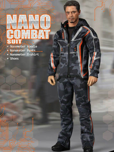 In-stock 1/6 Scale SUPERMCToys F-080 Nano Combat Suit 12in Figure Clothes