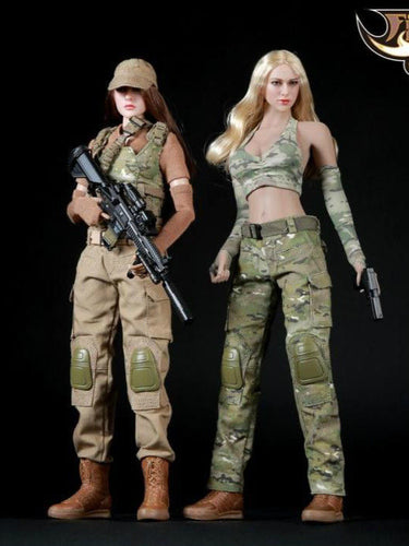 1/6 Fire Girl Military Female Camouflage Tactical Suit FG003 FG004 Gunner Suit