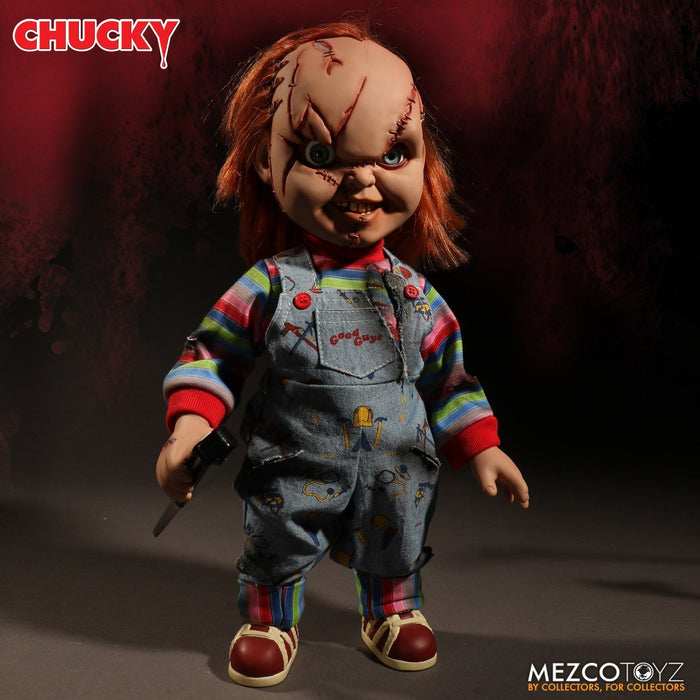 Pre-order 15 inch Mezco Toys 78005 Talking Scarred Chucky Reissue Figure