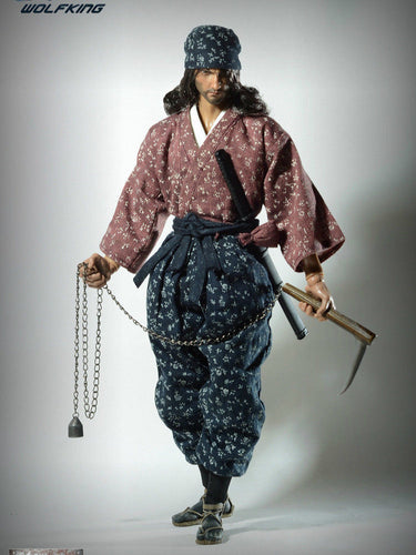 In-Stock Samurai Miyamoto Musashi WOLFKING WK89015A 1//6 Scale 12in Action Figure