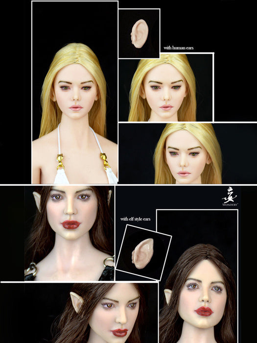 "WONDERY 1//6 Scale Classy Epic EP1 Ava EP02 Daeris Head Model For 12/"" Figure Toys"