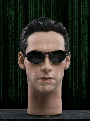 In-stock 1/6JXTOYS JX033 Keanu Reeves Head Sculpt Matrix W/ Sunglasses Neo