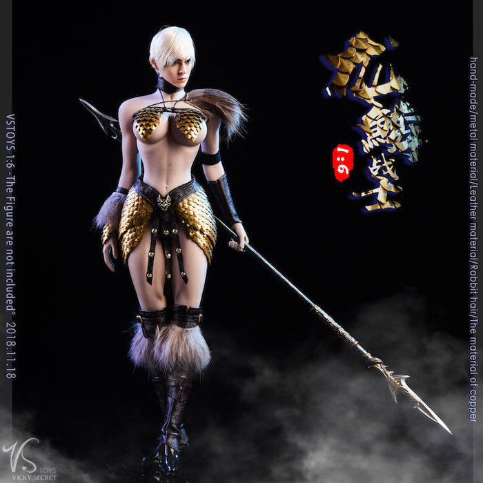 In-stock 1/6 Scale VSTOYS 18XG32 Dragon Scale Female Warrior Clothes Set