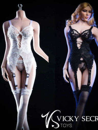 In-Stock 1/6 Scale VSTOYS 18XG29 Female Lace Lingerie Set For 12in Action Figure