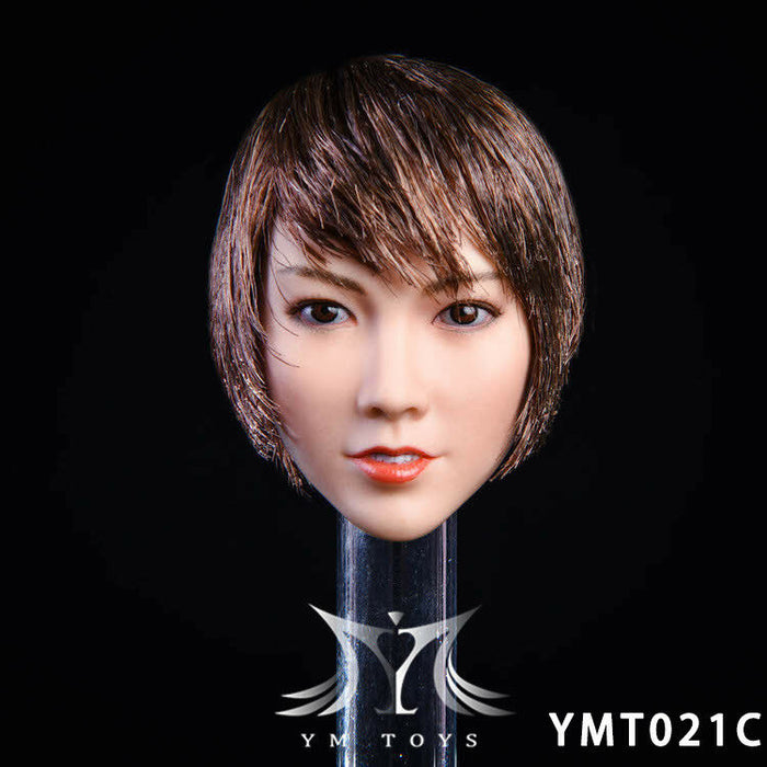 "In-stock YMTOYS 1/6 Scale Female Head Sculpt YMT021 ""Qian""  H#Suntan"