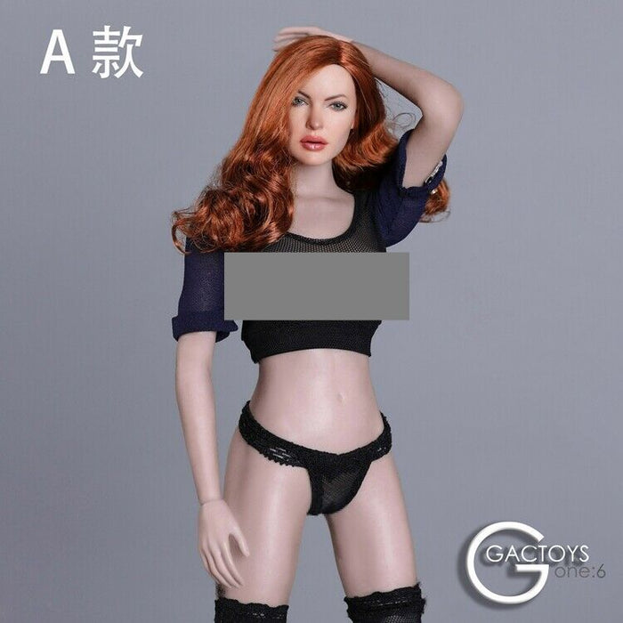In-stock 1/6 GACTOYS GC031 Female Head Sculpt H#Suntan