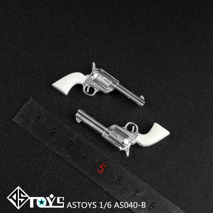 ASTOYS AS040 1/6 Colt P18520 Cowboy Revolver Pistol Weapon Gun