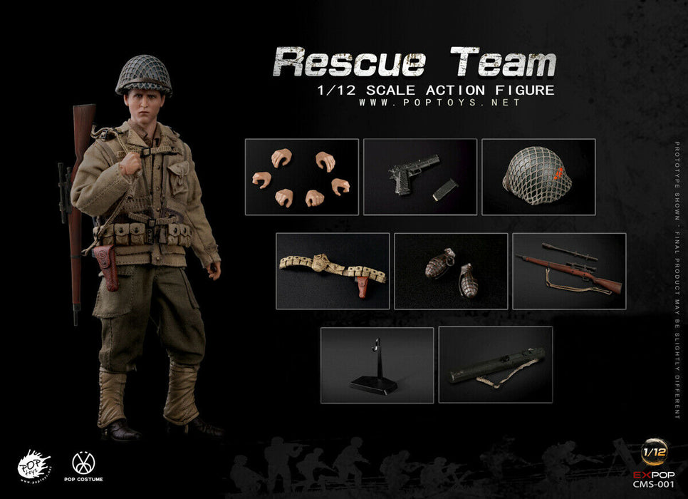 Pre-order 1/12 Scale POP TOYS WWII US Rescue Squad Action Figure CMS001~004
