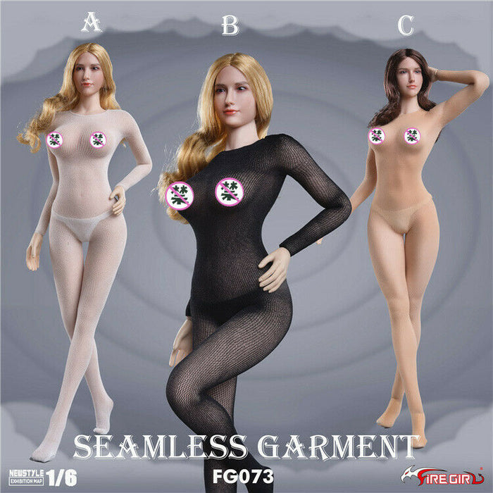 In-stock 1/6 Fire Girl Stockings Jumpsuit Underwear FG073 accessories