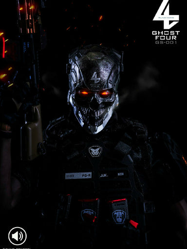 Pre-order 1/6 GHOST FOUR GS-001 Centurion Tarkov Head Sculpt (w/ LED)
