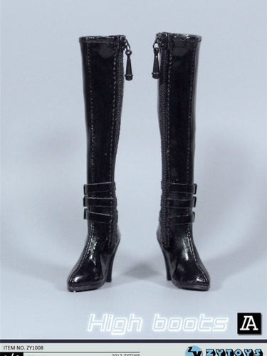 1/6 onesixth Female Boots ZY1008 Knee High Leather Female