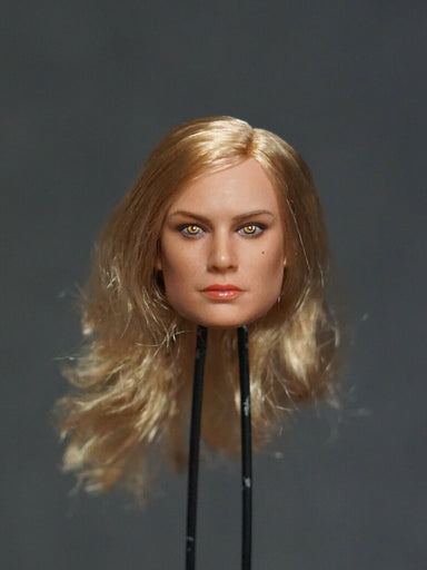 In-stock Manco Toys 1/6 Brie Larson Head Sculpt MC002-D Furious Ver. H#Suntan