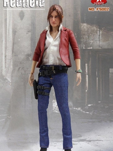 SW Our World 1/6 Claire Redfield Resident evil agents head + clothes set