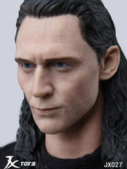 In-stock 1/6 Scale JXTOYS-027 Loki Head Sculpt HW/Neck