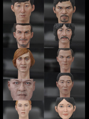 1/6 Scale Kumik Male Head Sculpt Movie Characters KM18-13 to18-22